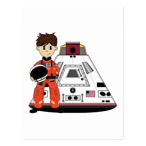 Cute Spaceman Postcard