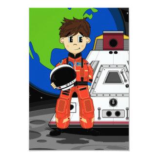 """Cute Spaceman RSVP Card 3.5"""" X 5"""" Invitation Card"""