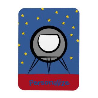 Cute Spaceship Rectangular Photo Magnet
