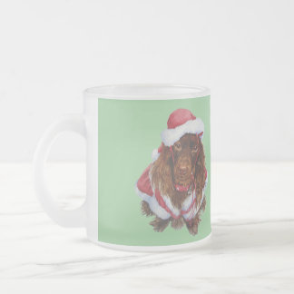 Cute spaniel puppy dog realist art Christmas mug