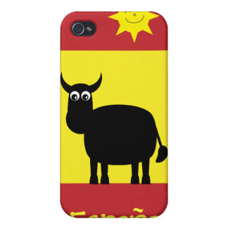 Cute Spanish Bull, Sun & Flag iPhone 4 Cases