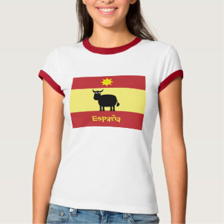 Cute Spanish Bull, Sun & Flag T-Shirt