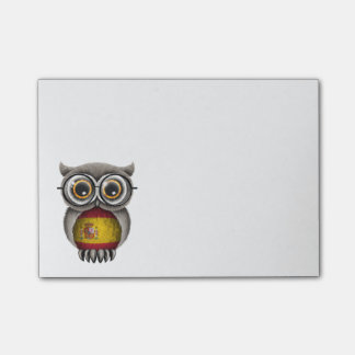 Cute Spanish Flag Owl Wearing Glasses Post-it Notes