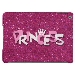 Cute Sparkly Hot Pink Princess Glitter iPad Air Cases