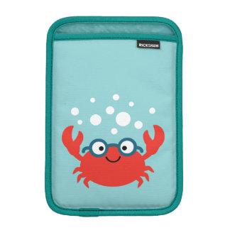 Cute Specky Crab Illustration iPad Mini Sleeve