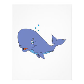 cute sperm whale custom flyer