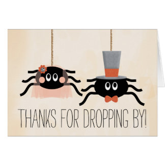 Cute Spider Halloween Wedding Thank You Cards