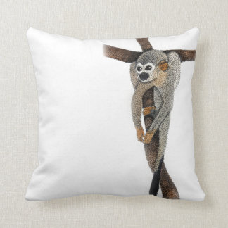 cute spider monkey art cushion