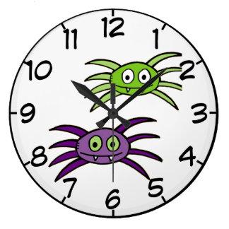 Cute Spiders Halloween Wall Clock