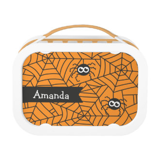 Cute Spiders, Spider Web, Halloween Lunch Box