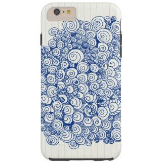 Cute spiral doodles design tough iPhone 6 plus case