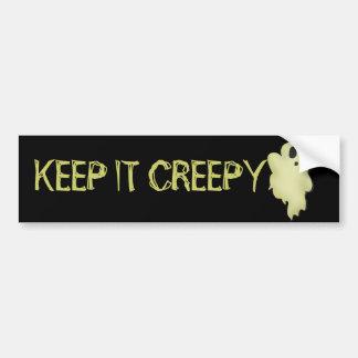 Cute Spook Ghost Bumper Sticker