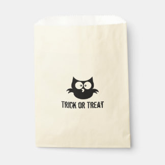 Cute Spooky Halloween Trick or Treat Black Owl Favour Bags