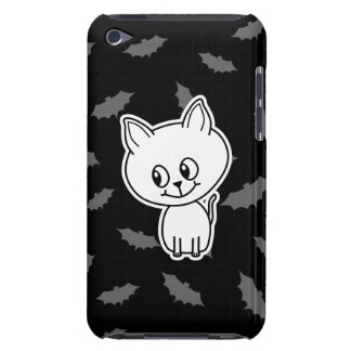 Cute Spooky White Cat and Bats iPod Touch Case
