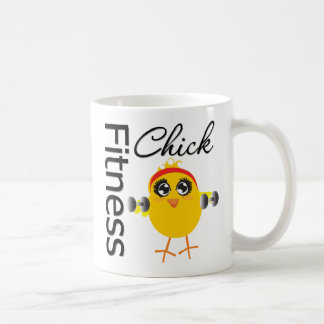 Cute Sporty Fitness Chick Basic White Mug