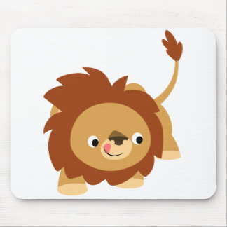 Cute Sprightly Cartoon Lion Mousepad