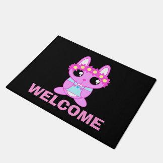 Cute Spring Bunny Rabbit Doormat