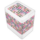Cute spring floral and stripes watercolor pattern igloo cool box