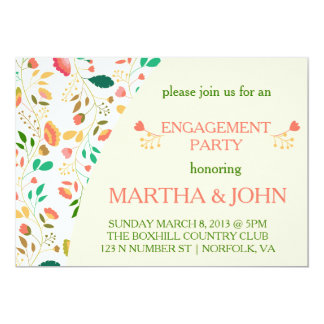 Cute Spring Flowers - Engagement Invitations