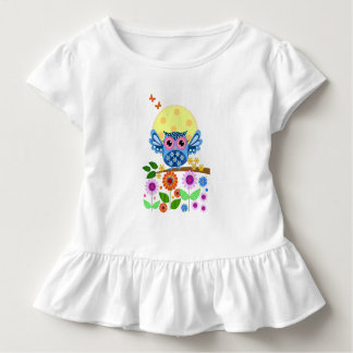 Cute spring Owl and Flowers Tee Shirt