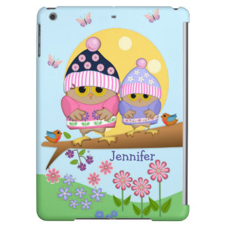 Cute spring owls and custom name