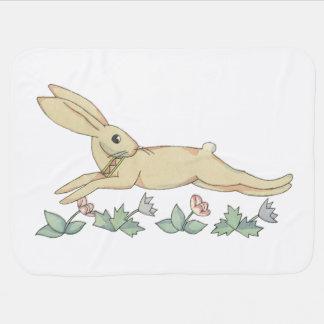 Cute Springing Rabbit by Tom Seidmann Freud Baby Blanket