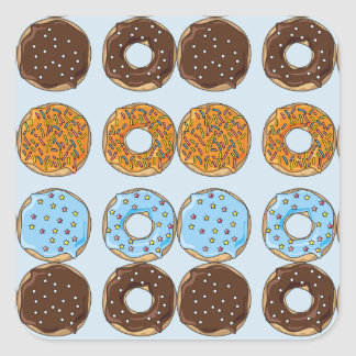 Cute Sprinkled Frosted Donuts Stickers