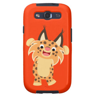 Cute Spunky Bobcat Samsung Galaxy S III Vibe™ Case Galaxy SIII Covers