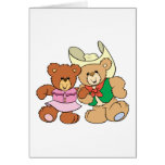cute square dancing teddy bears design greeting card
