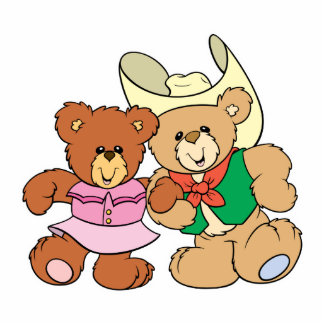 cute square dancing teddy bears design photo cut outs