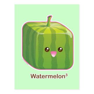 Cute Square Watermelon Postcard
