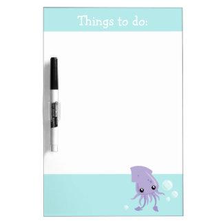 Cute Squid Dry Erase Board