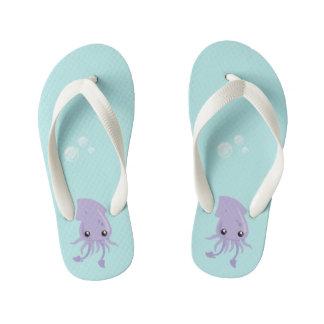 Cute Squid Flip Flops, Kids Kid's Flip Flops
