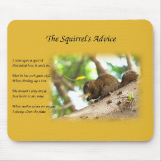 Cute Squirrel and Poem Mousepads