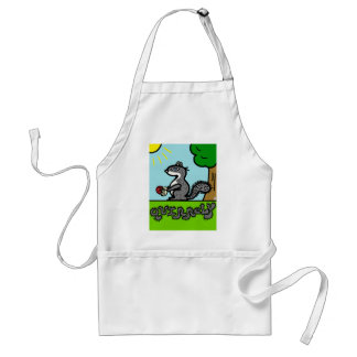Cute Squirrel animal cartoon character Apron