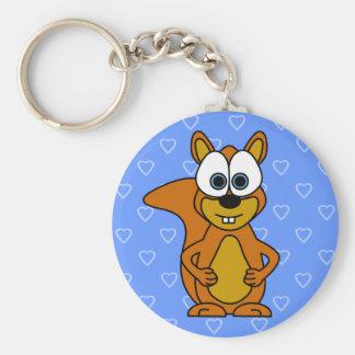 Cute Squirrel Cartoon Key Ring