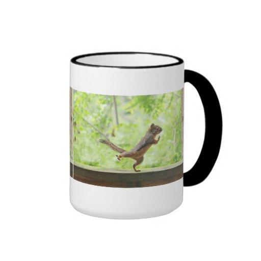 Cute Squirrel Doing Tai Chi Coffee Mug