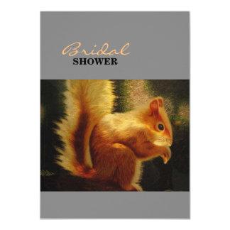 Cute Squirrel Embroidery 11 Cm X 16 Cm Invitation Card