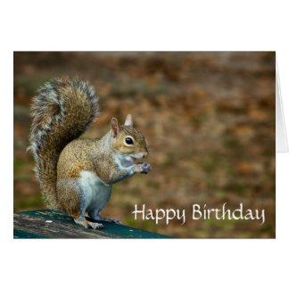 Cute Squirrel Happy Birthday Card