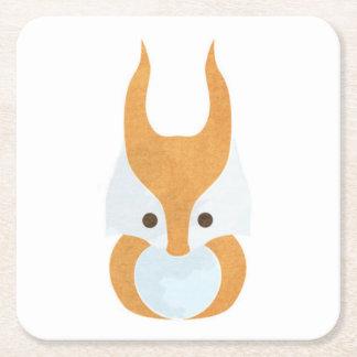 Cute Squirrel Icon Square Paper Coaster