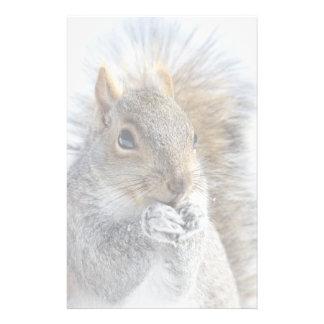 Cute Squirrel in Winter Stationery