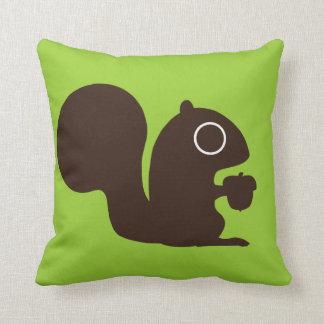 Cute Squirrel on Green (Customizable) Cushion