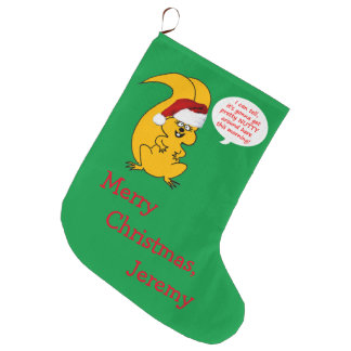 Cute Squirrel Santa Christmas Stocking