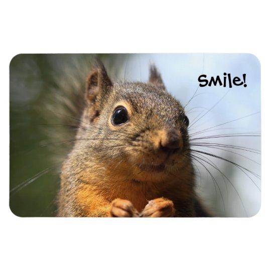 Cute Squirrel Smiling Closeup Photo Magnet