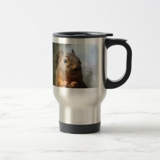Cute Squirrel Smiling Closeup Photo Stainless Steel Travel Mug