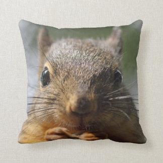 Cute Squirrel Smiling Photo Cushion