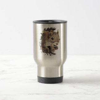 Cute Squirrel, Watercolor Animal Nature Travel Mug