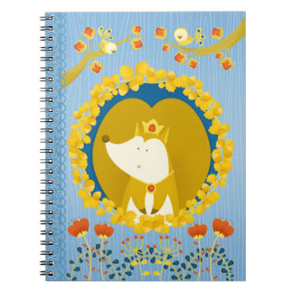 Cute squirrels king spiral notebook