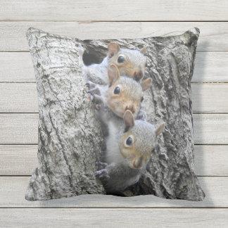 Cute Squirrels Outdoor Pillow