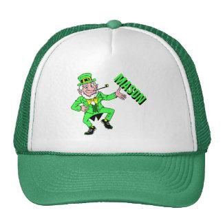 Cute St Patrick s Day Dancing Leprechaun Trucker Hat
